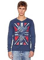 Rexton Camiseta Pico Con Print (Marino)