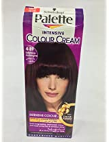 SCHWARZKOPF PALETTE INTENSIVE HAIR COLOUR CREAM WITH LIQUID KERATIN - 4-89 Intensive Aubergine 100 ML