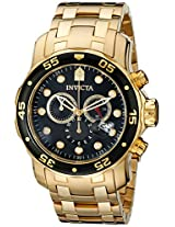 Invicta Analog Black Dial Men's Watch - 72