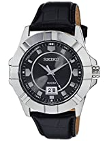 Seiko Lord Analog Black Dial Men's Watch - SUR131P1
