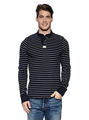 Abercrombie & Fitch Longsleeve Classic Henley (marine)