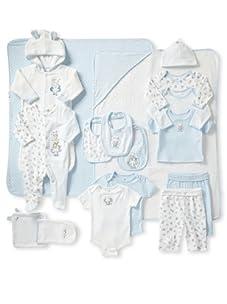 Absorba Kid's So Cute Boy's 17-Piece Gift Set (Blue)