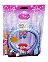 Disney Blue Princess Hotprint Hair band & Tic-tac clip Pair