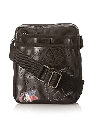Desigual Women's Small Bag Letras Messenger Bag, Black