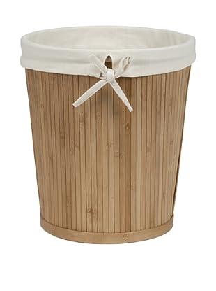 Creative Bath Round Waste Basket, Natural
