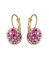 Aaishwarya Striking Pink Crystal Earring
