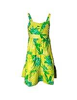 Shoppertree Girls' Dress (ST-1392_Multicolour_15-16 Years)