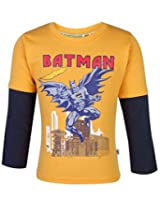 Cucumber Full Sleeves T-Shirt Batman Print - Mango Color