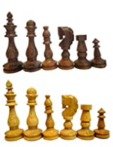 "craft store Hand Made Wooden Chess Set 4"" King"