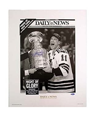 Steiner Sports Mark Messier Autographed 94 Cup Replica Daily News Photograph