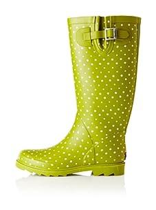 Chooka Women's Posh Dots Rain Boot (Dirty Lime)