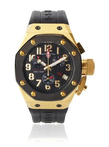 Swiss Legend Men's 10541-YG-01-BB Trimix Diver Collection Chronograph Black Rubber Watch