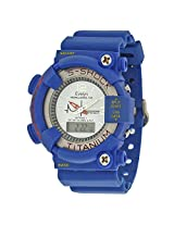 Evelyn Round Dial Blue Analogue-Digital Wrist Watch -BUG-058