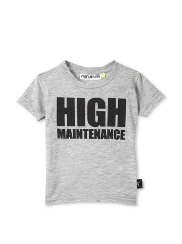 NUNUNU Kid's High Maintenance Tee (Heather Grey)