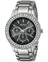 XOXO Women's XO5330  Silver-tone Bracelet With Rhinestones Accent Watch