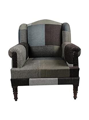 Melange Home Bengali One-of-a-Kind Chair, Mixed Greys