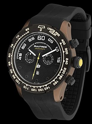 Bultaco H1SC48C-SB1 - Reloj Scandium Limited correa silicona marrón/negro