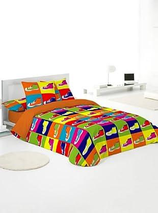 Euromoda Lencería Juego de Fundas Nórdicas Zapatillas (Multicolor)