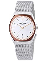 Skagen Asta Analogue Quartz 3 Hand Date Stainless Steel Silver Watch for Men - SKW2051