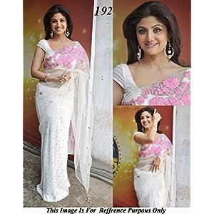 MYFashion Shilpa Shetty Saree - White