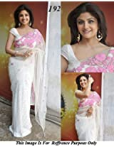 Shilpa Shetty In Gorgeous White Color Designer Saree