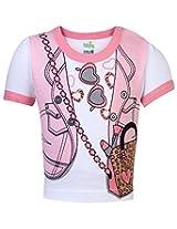 Babyhug Short Sleeves Top Jacket Print - Pink And White