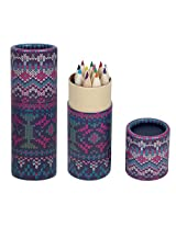 Natural Wood Colours Pencils Small Size Blue pink