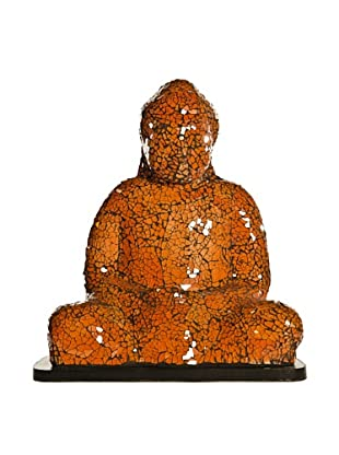Foreign Affairs Large Sitting Buddha Lamp, Orange
