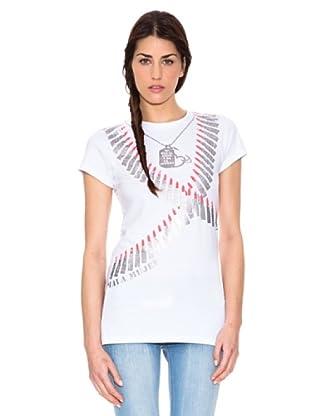 Mala Mujer Camiseta Coral (Blanco)
