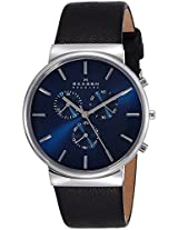 Skagen Ancher Analog Blue Dial Men's Watch - SKW6105I