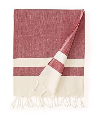 Nomadic Thread Society Boardwalk Hammam Towel (Wine)