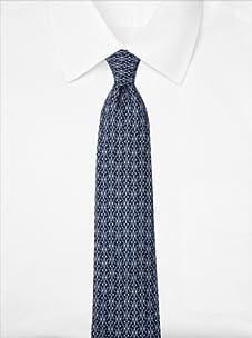 Hermès Men's Classic H Pattern Tie, Blue, One Size