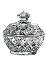 Belleek Pottery Galway Crystal Ashford Trinket Box, 3.7-Inch, Clear, Set of 1