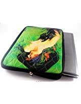 Devarshy Limited Edition 17 Inch Laptop Cover With Computer Quilted On Digital Prints - Painting Of A Girl