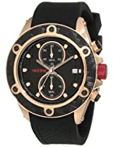 red line Men's RL-10114DV Carbon Brake Chronograph Black Dial Watch