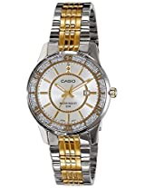 Casio Enticer Analog Silver Dial Women's Watch - LTP-1358SG-7AVDF (A898)