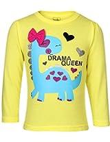 Babyhug Full Sleeves Top - Drama Queen Print