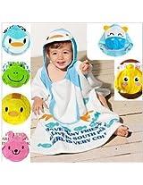 Penguin Kids Super Soft Best Bathing Towel with Animal Printed Cap Hood Baby Birthday Return Gifts Bath robe