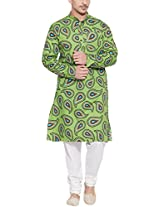 Very Me Roit of Paisleys Men's Cotton Printed Kurta