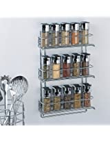 Organize It All 3-Tier Wall-Mounted Spice Rack - Chrome (1812)