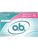 o.b. Applicator Free Digital Tampons, Regular - 40 Count