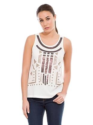 Cortefiel Camiseta Bordados Étnicos (Multicolor)