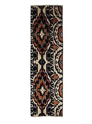 Darya Rugs Ikat Oriental Rug, Black, 2' 6