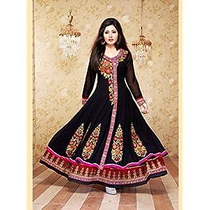 Fab4Fashion QN 105 Anarkali Salwar Suits - Black