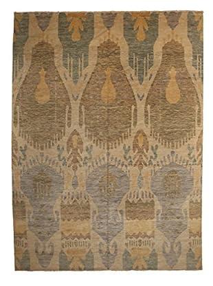 Darya Rugs Ikat Oriental Rug, Beige, 10' 1