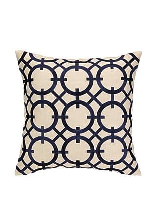 Peking Handicraft Parisian Lights Pillow, Navy