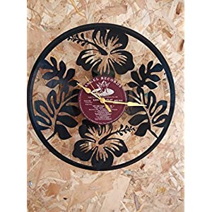 Samaya Hibiscus Clock Designed Wall Clock
