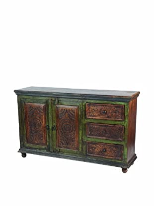MOTI Historic 2-Carved Door & 3-Drawer Buffet