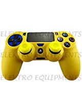 Sony PS4 Controller High Quality Protective Silicone Case Yellow with 2 Yellow Silicone Thumb Grips