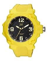 Q&Q Yellow Analog Black Dial Unisex Watches - VR56J004Y